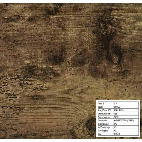 Rustic Antique Nutmeg Three-panel Screen
