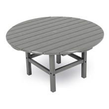 "Slate Grey Round 38"" Conversation Table"