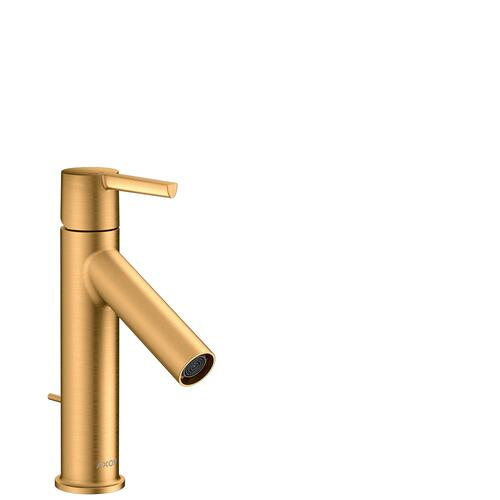 Brushed Gold Optic Single lever basin mixer 100 CoolStart with lever handle and pop-up waste set