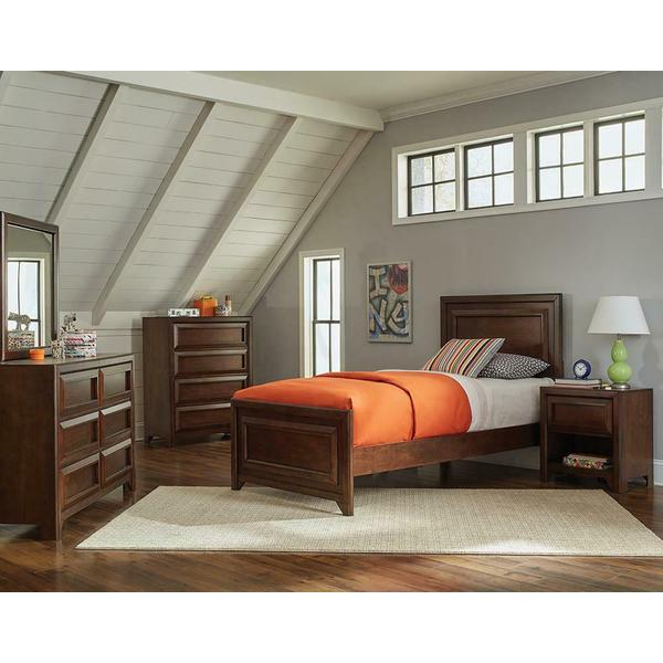 Greenough Transitional Maple Oak Full Four-piece Set