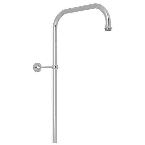 "Polished Chrome Perrin & Rowe 31"" X 15"" Rigid Riser Shower Outlet"