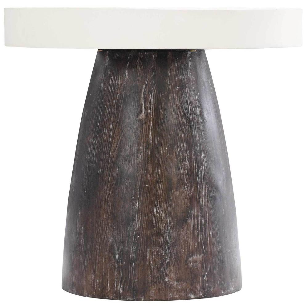 Arlo Round End Table in Bone