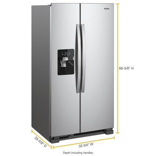 Whirlpool - 33-inch Wide Side-by-Side Refrigerator - 21 cu. ft.