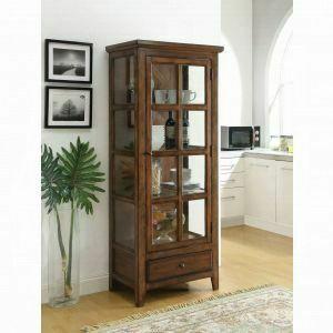ACME Lartius Curio Cabinet - 90306 - Distress Cherry Oak