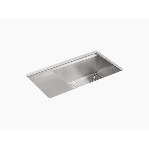 "33"" X 18-1/2"" X 9-13/16"" Undermount Single-bowl Kitchen Sink With Wet Surface Area"