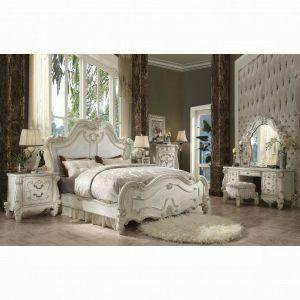 ACME Versailles Queen Bed - 21760Q - Bone White