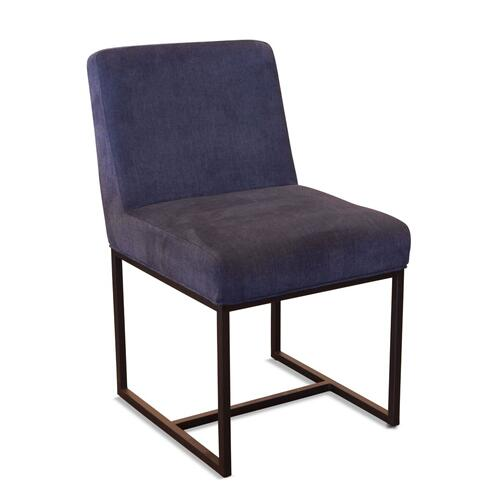 Renegade Rum Navy Linen and Iron Dining Chair