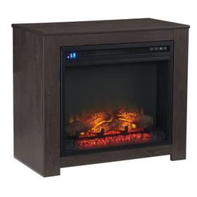 See Details - Harlinton Fireplace Mantel w/Fireplace Insert Two-Tone
