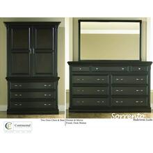 Sorrento Two Door Chest & Base Sorrento Dresser & Mirror
