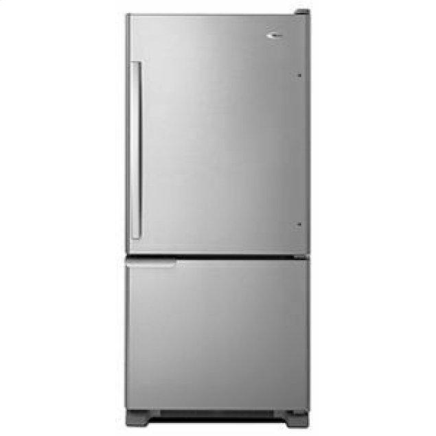 Amana 29-inch Wide Bottom-Freezer Refrigerator with Garden Fresh Crisper Bins -- 18 cu. ft. Capacity - Stainless Steel