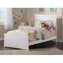 Metro Twin XL Bed with Matching Foot Board in White