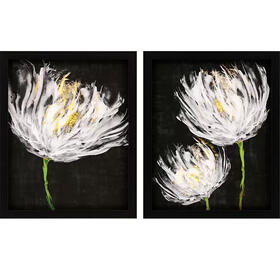 Tulips On Black S/2