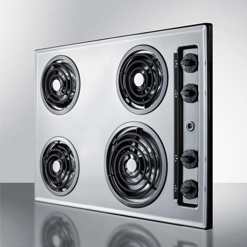 """30"""" Wide 230v 4-burner Coil Cooktop"""