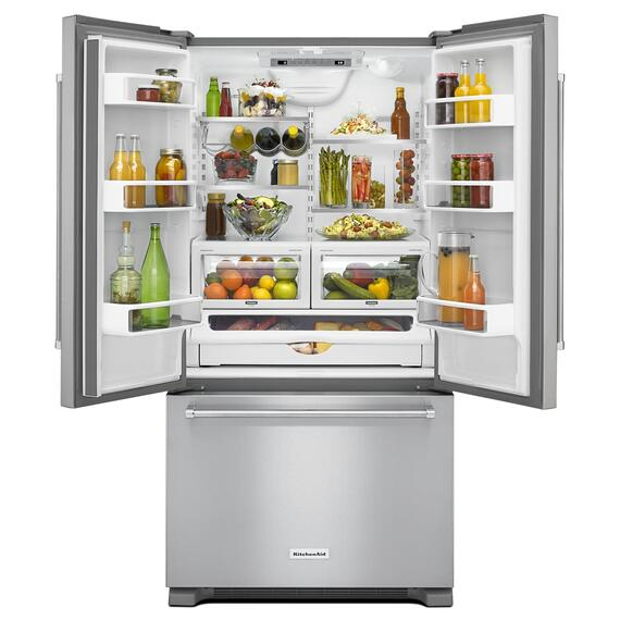 22 cu. ft. 36-Inch Width Counter Depth French Door Refrigerator with Interior Dispense Stainless Steel
