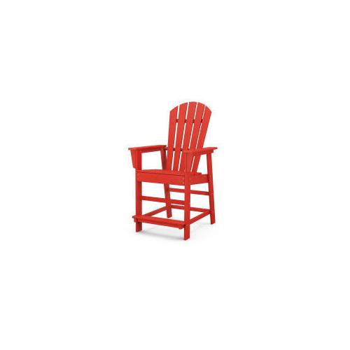 Polywood Furnishings - South Beach Counter Chair in Sunset Red
