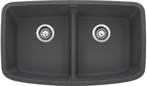 Valea® Equal Double Bowl With Low-divide - Cinder Product Image