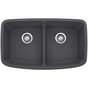 Valea® Equal Double Bowl With Low-divide - Cinder