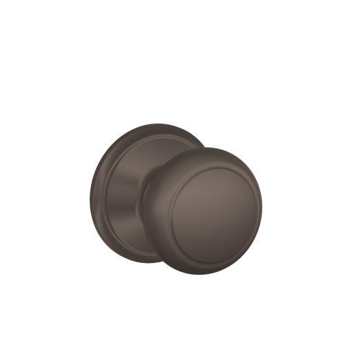 Andover Knob Hall & Closet Lock - Oil-Rubbed Bronze