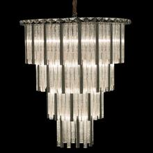 Chimes 15 Light Chandelier 2 PC Set Silver