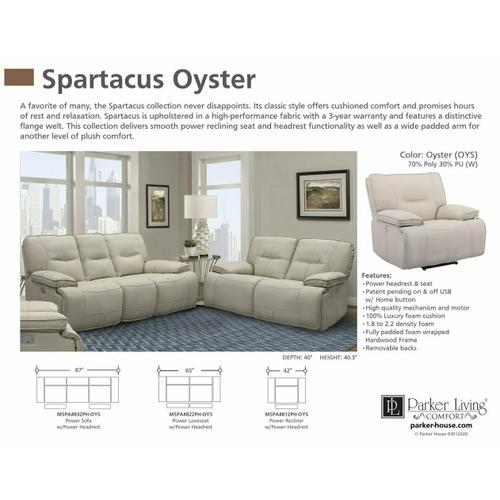 SPARTACUS - OYSTER Power Loveseat