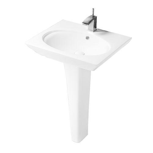 "Opulence Pedestal Lavatory - ""Hers"" - 8"" Widespread"