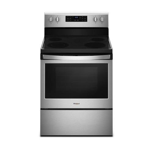 Product Image - 5.3 cu. ft. guided Electric Freestanding Range with True Convection Cooking