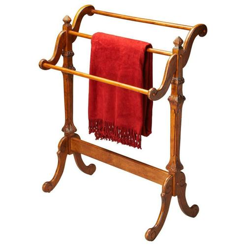 Butler Specialty Company - Selected solid woods. Horizontal rails for hanging quilts, comforters, bedspreads as well as blankets. Can also be used for hanging guest towels.