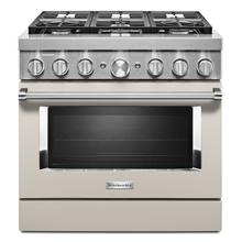 KitchenAid® 36'' Smart Commercial-Style Dual Fuel Range with 6 Burners Milkshake