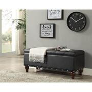 BLACK PU BENCH W/STORAGE Product Image