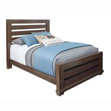 Queen Slat Bed - Auburn Cherry Finish