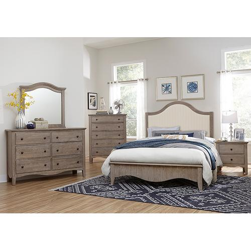 King Upholstered Platform Bed