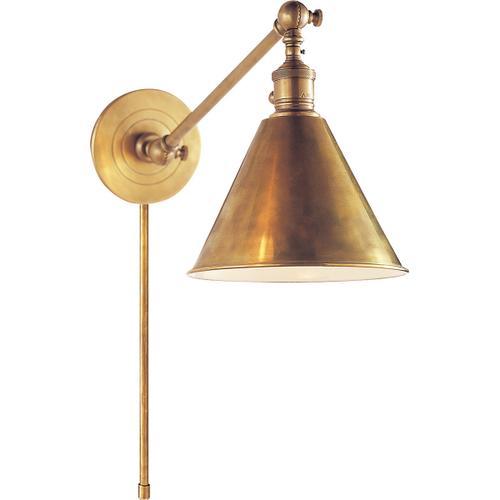 E. F. Chapman Boston 18 inch 60.00 watt Hand-Rubbed Antique Brass Single Arm Library Light Wall Light