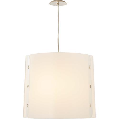 Visual Comfort - Barbara Barry Dapper LED 24 inch Polished Nickel Hanging Shade Ceiling Light, Medium