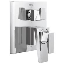 See Details - Chrome Two-Handle Monitor 17 Series Valve Trim with 6-Setting Diverter