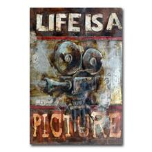 Life is a Picture 32x48 Metal Wall Art