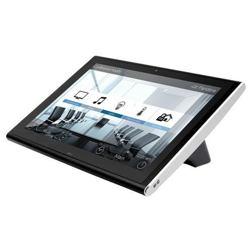 Universal Remote Control - 10-inch Tabletop Touch Screen, Black + Diamond-polished Aluminum accents