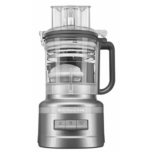 KitchenAid - 13-Cup Food Processor with Dicing Kit - Contour Silver
