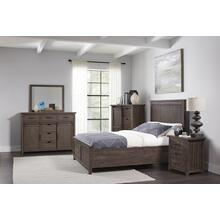Madison County King Panel Bed - Barnwood