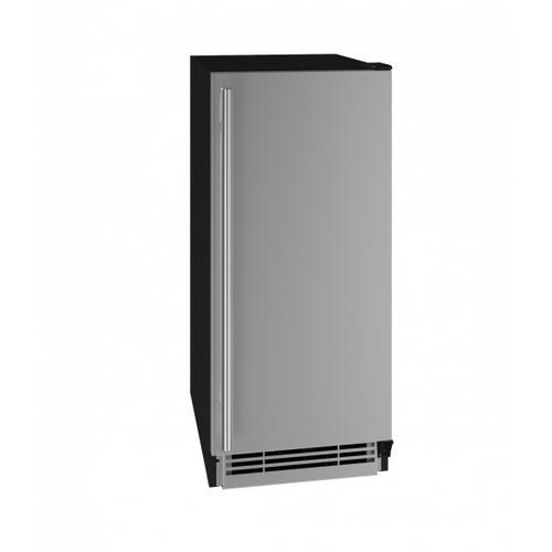 "U-Line - Hre115 15"" Refrigerator With Stainless Solid Finish (115v/60 Hz Volts /60 Hz Hz)"