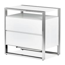 Metal Accent Cabinet-night Stand-end Table W/led Lights