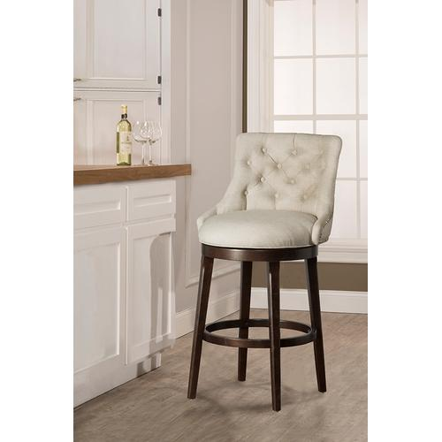 Halbrooke Swivel Bar Height Stool, Cream