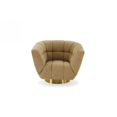 VIG Furniture - Divani Casa Granby - Glam Mustard and Gold Fabric Chair