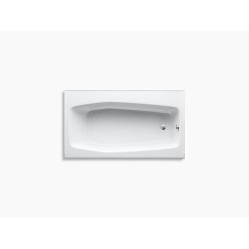 "White 60"" X 34"" Alcove Bath With Right-hand Drain"