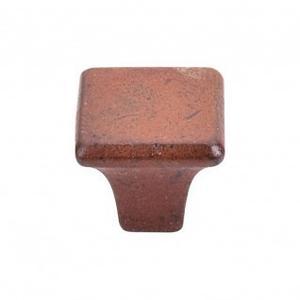 Britannia Square Knob 1 1/4 Inch - True Rust