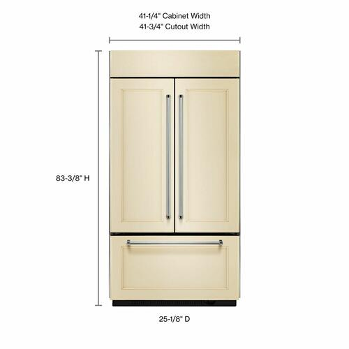 "KitchenAid Canada - 20.8 Cu. Ft. 36"" Width Built-In Panel Ready French Door Refrigerator with Platinum Interior Design"