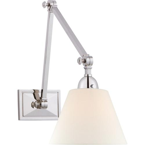 Alexa Hampton Jane 30 inch 40 watt Polished Nickel Double Library Wall Light