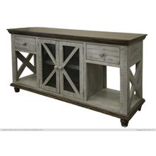 2 Drawer, 2 Door, Sofa Table, Gray finish