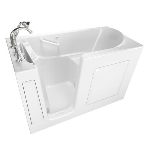 Gelcoat Value Series 30 x 60 Inch Walk-in Bathtub  Left Drain  American Standard - White