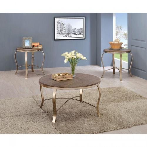 Gallery - Wicklow 3 Pc. Table Set, Champagne