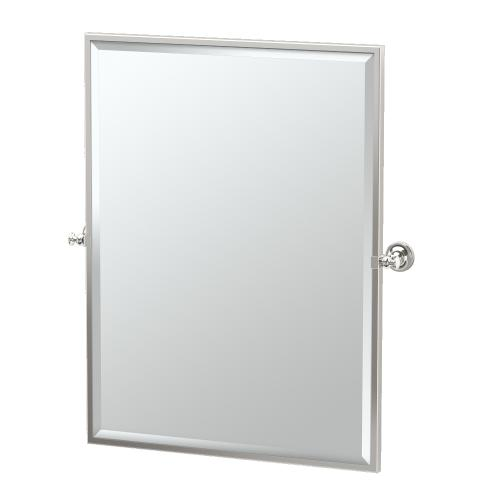 Tavern Framed Rectangle Mirror in Polished Nickel